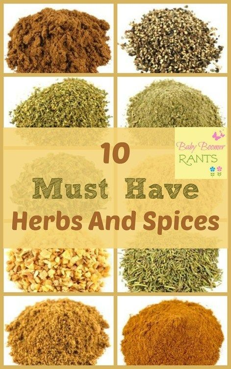 10 Must Have Herbs And Spices