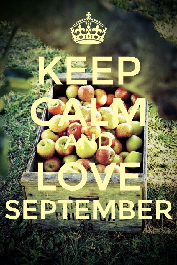 Keep calm and love September
