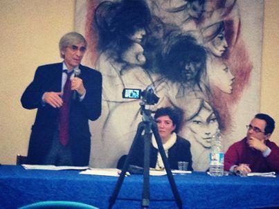 """Presentazione di """"Gramsciana"""" a Viareggio 11 gennaio 2014. Angelo d'Orsi, Barbara Mangiapane, Alex Hoebel. A cura dell'Ass. Marx XXI"""