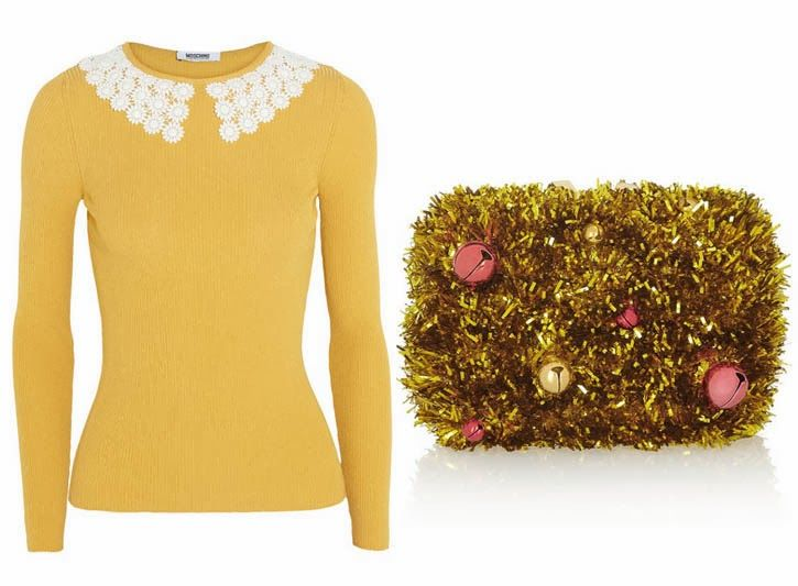 diy inspiration moschino sweater glam up your plain sweater by hand sewing on a