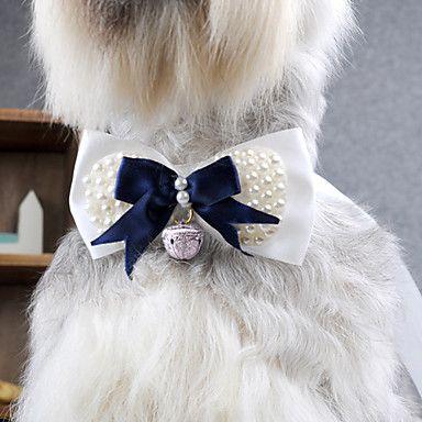 Colar elegante com grânulos bowknot para Animais de estimação Cães – BRL R$ 18,47