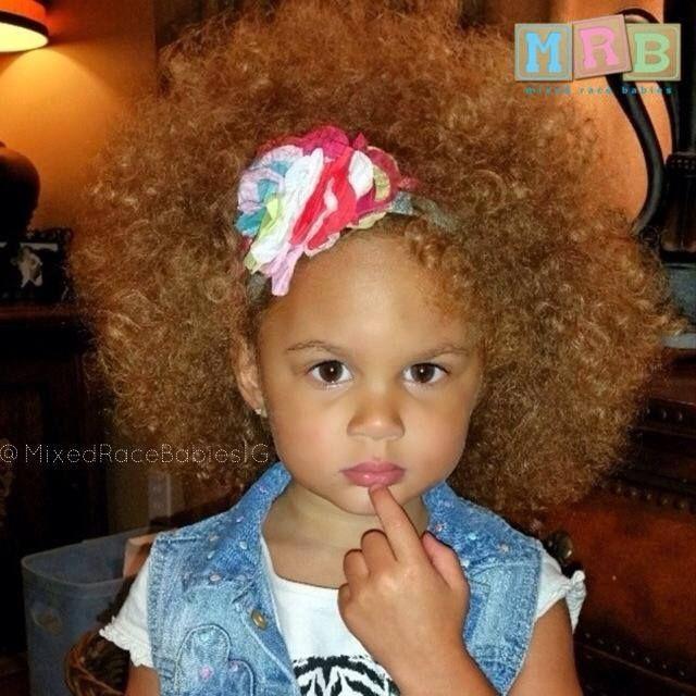 Biracial Baby Girl Curly Hair Pretty mixed girl   Mi...