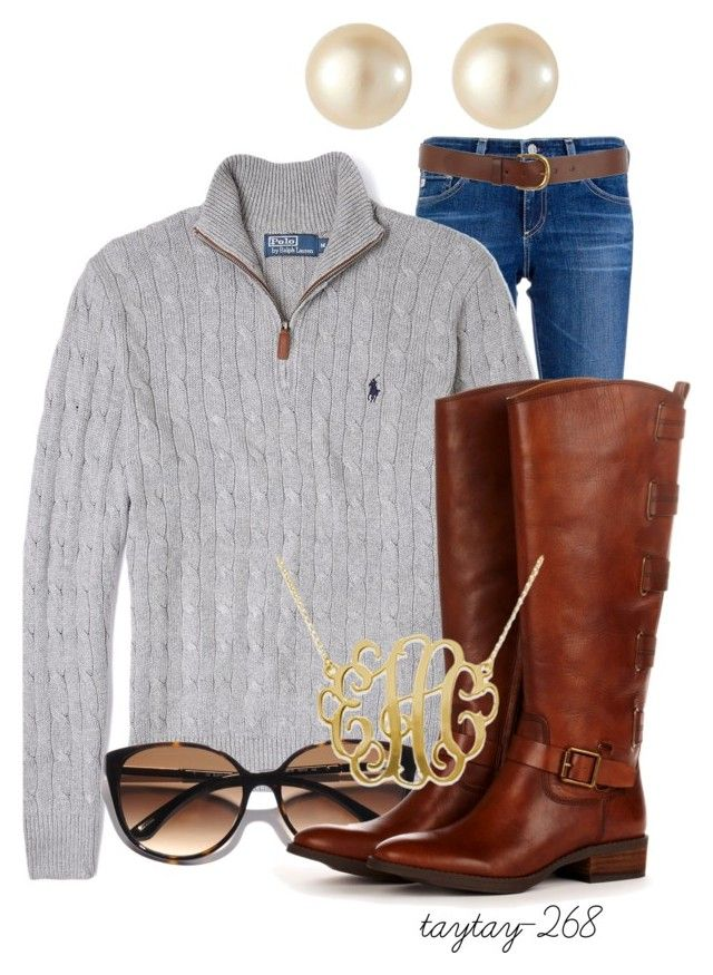 Polo Sweater and Boots