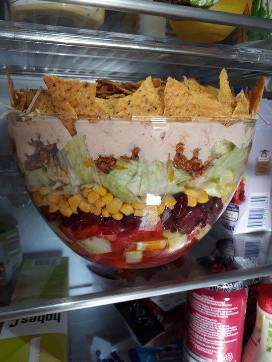 Taco - Salat, ein raffiniertes Rezept aus der Kategorie Raffiniert & preiswert. Bewertungen: 162. Durchschnitt: Ø 4,7.