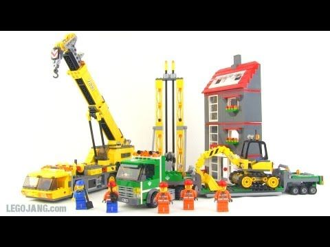 LEGO City Construction Site set 7633 review! - YouTube