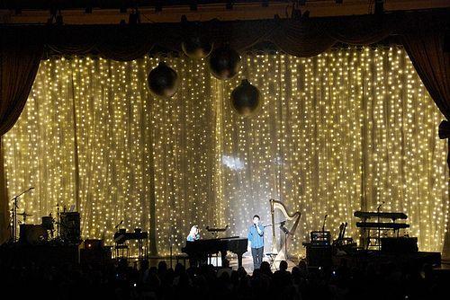 LED Christmas Stage Drape for David Archuleta, via Flickr.