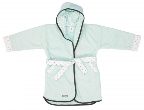 Misty Mint Bath Robe - Misty Mint Bath Robe - Luma Babycare Australia