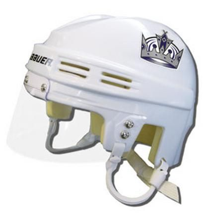 "Los Angeles Kings Official NHL Mini Player Helmet (White): ""Enjoy this helmet featuring the NHL Los… #Sport #Football #Rugby #IceHockey"