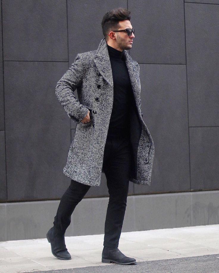 チェスターコートのサイドゴアブーツの着こなし
