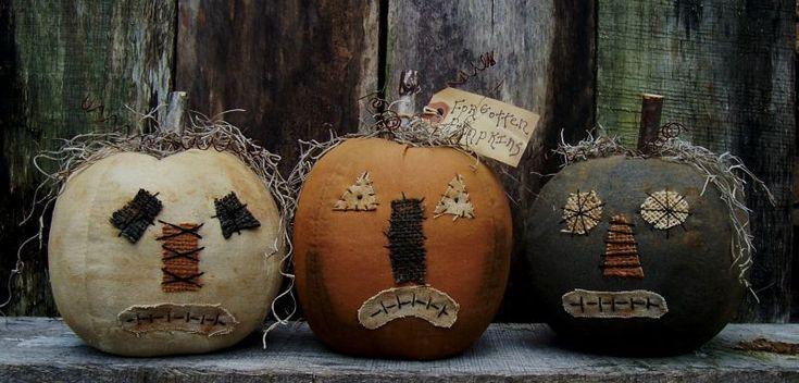 Primitive Pumpkins from www.thepatterncupboard.com