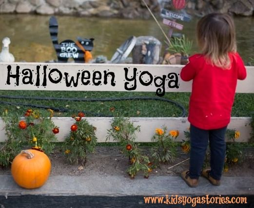 Halloween Yoga includes 10 kids yoga poses inspired by Halloween to get your children in action and having fun this season | Kids Yoga Stories