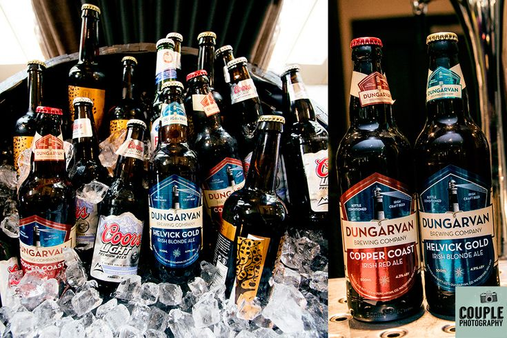 Treat your guests to some craft beer at your wedding! Wedding photography at The Brooklodge Hotel by Couple Photography.