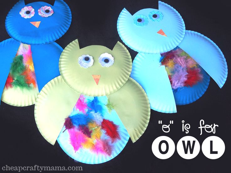 """We had some sweet friends come over to do some """"O"""" projects with us and we all had a blast! We used paper plates to make these adorable owls: Materials: (to make 1 owl) 3 paper plates (I painted th..."""