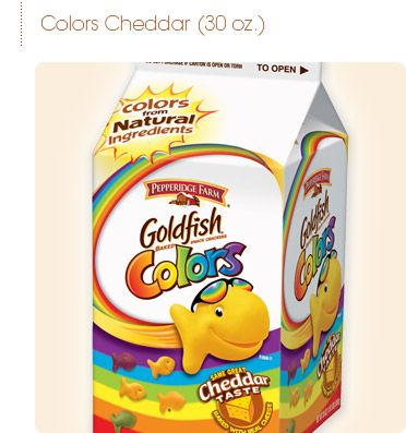 Pepperidge Farm® - Goldfish® Crackers in Cartons - Rainbow fish Colors from Natural Ingredients!