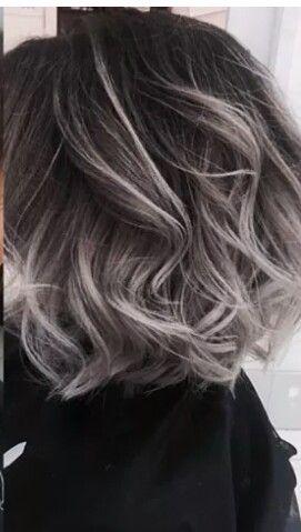 medium grey curls