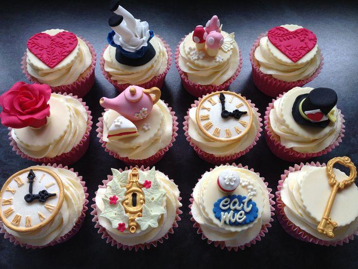 Alice in Wonderland cupcakes by Plumtree Bakehouse