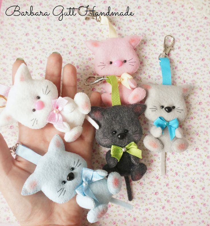 Barbara Handmade...: Filcowe mruczusie / Felt cats
