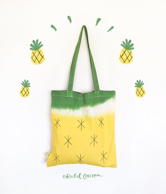 Pineapple tote bag (by Rachel Corcoran) #pineapple