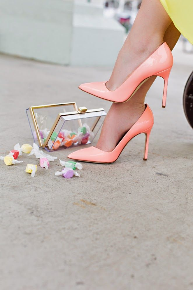 Manolo blahnik bb pointed toe sorbet peach patent pumps heels shoes 39.5/9 $595