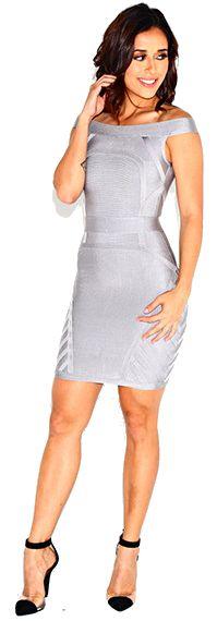 Dream it Wear it - Bardot Bandage Dress Grey, £79.95 (http://www.dreamitwearit.com/bandage-dresses/bardot-bandage-dress-grey/)