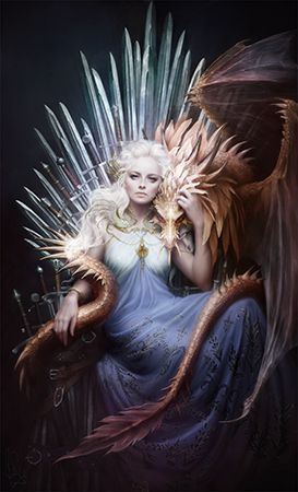 Daenerys on the Iron Throne: Magnificent Digital Painting by Melanie Delon   Note: This digital artwork is the cover of the May 2014 issue of Imagine FX Magazine
