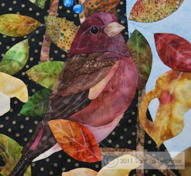One of the gorgeous applique blocks by sandraleichner.com ... part of her Naturalist Notebook series.