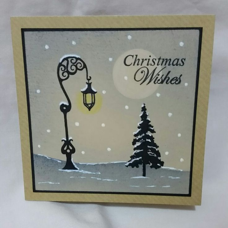 Christmas card using clarity stamps