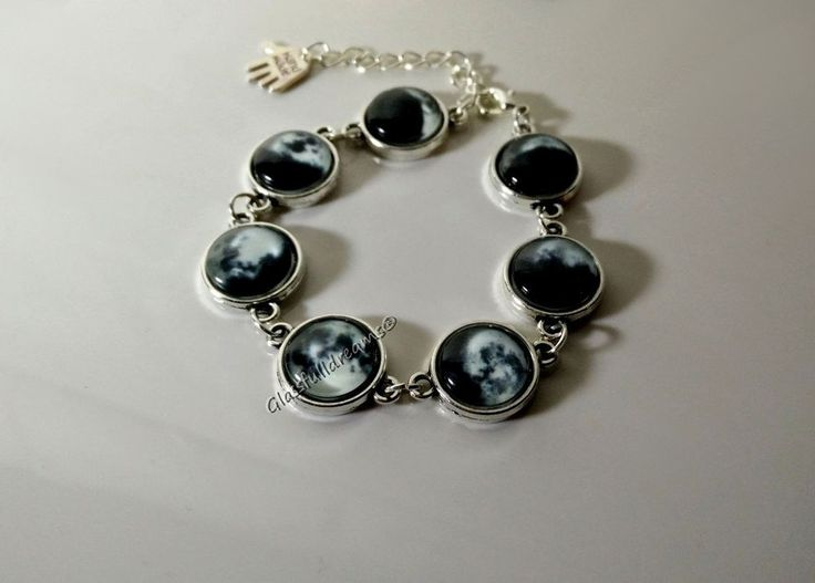 Glowing MOON PHASE BRACELET by Glassfulldreams