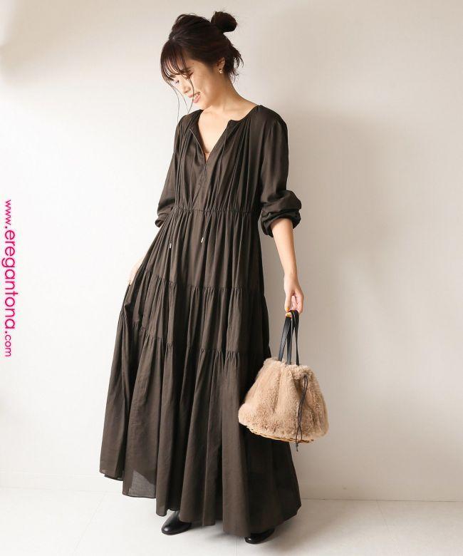 予約 ティアードギャザードレス spick and span スピック スパン 公式のファッション通販 18040200101030 baycrew s store 色彩模特 in 2019 pinterest summer dresses simple dresses weird fashion