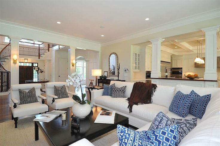 Decorating Open Floor Plan Jillian Klaff Homes Living Rooms Open Floor
