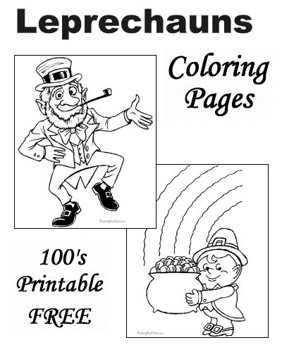 Leprechaun Coloring Pages for St
