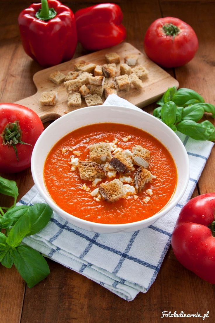 Cream of Paprika and Tomato Soup.