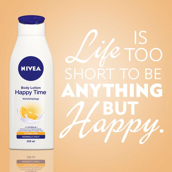 Life is short. Be happy. #nivea #quote #words