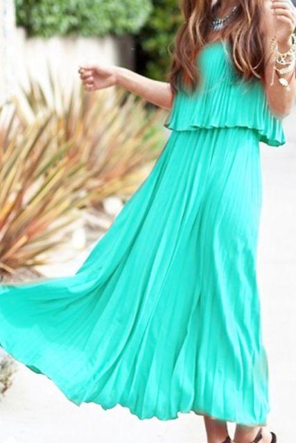 : Long Dresses, Summer Dresses, Summer Fashion, Aqua Blue, Cute Summer Outfit, Summer Maxi Dresses, The Dresses, Summer Clothing, Summer Time