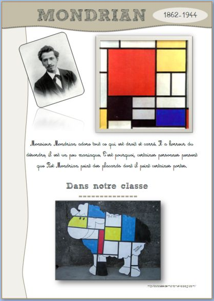 Fiches MEMO d'ART... could apply to stained glass project for class windows