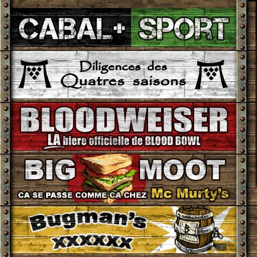 blood moute: les PUB du Blood Bowl