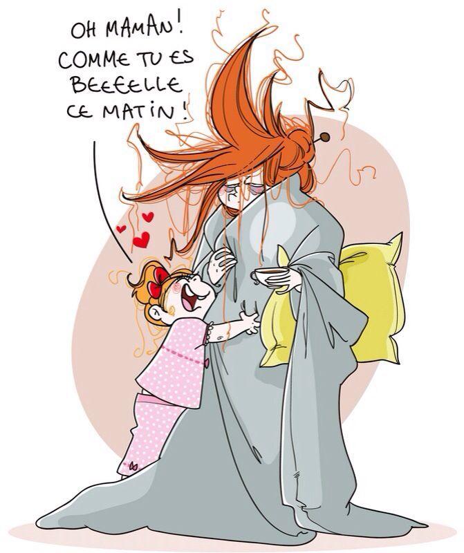 ... Comme tous les matins! Bonne Fête, Maman!!!