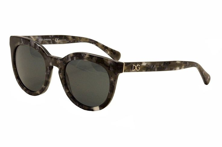 DOLCE & GABBANA Women 4249 Sunglasses, black marble