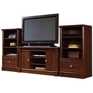 sauder palladia tv stand and storage towers value bundle cherry - Sauder Tv Stands