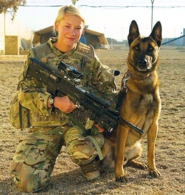 Female Warrior w/ K9 | Wounded Warrior Project & Military ...