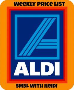 Aldi Weekly Price List!! Happy Aldi shopping!! 2/13-2/20  http://smslwithheidi.com/2013/02/aldi-price-list-for-the-week-of-213.html