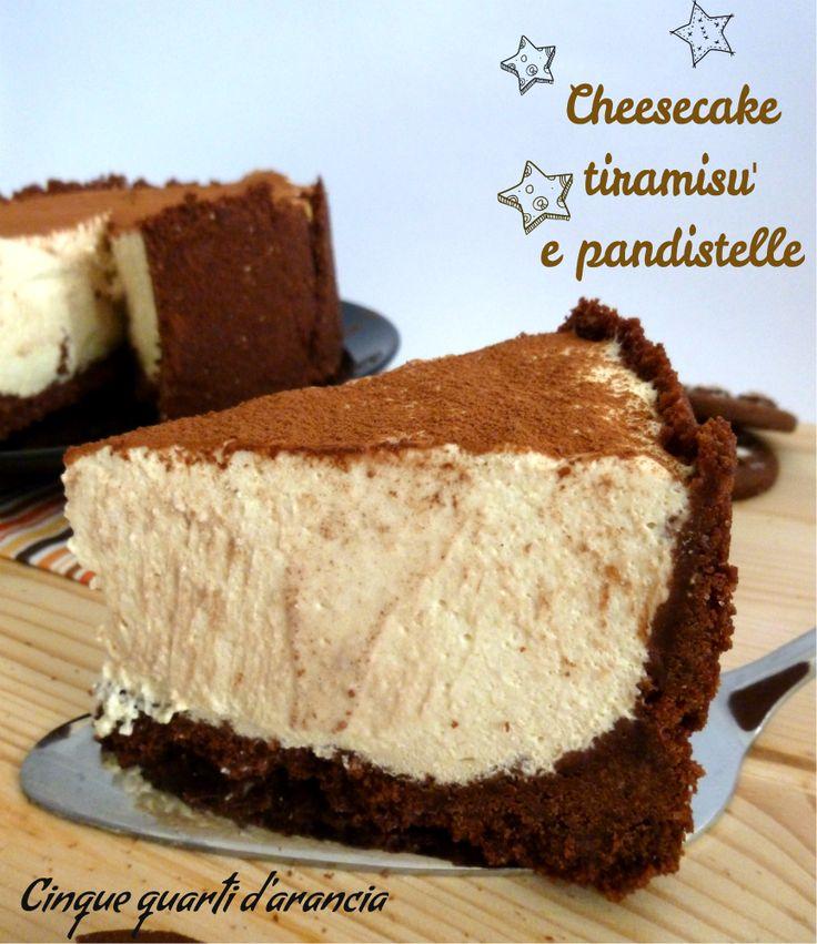 Cheesecake tiramisù e pandistelle | Cinque quarti d'arancia