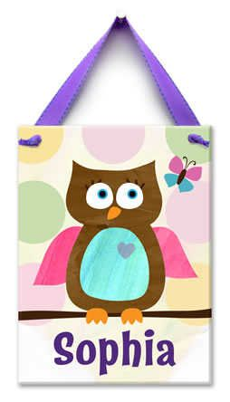 Owl Wall Tile|Fab Style Kids Rooms http://fabstylekidsrooms.com/Art-and-Decor/Wall-Tiles/Owl-Wall-Tile #babygirl