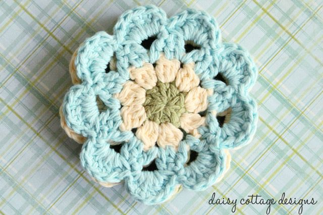 Japanese Flower Motif Crochet Pattern Hook and yarn ...