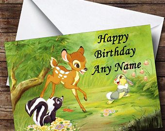 Bambi Personalised Birthday Card