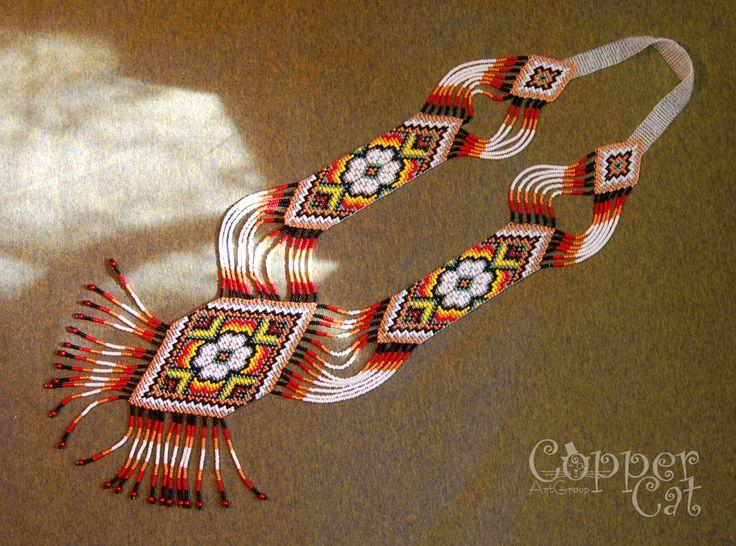"Gerdan ""August"" by ""Copper Cat Art Group"" Seed beads jewelry Czech seed beads"