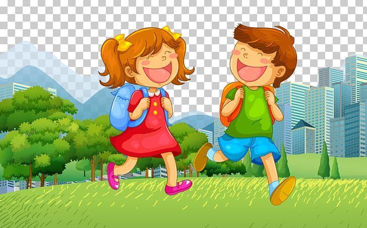 School Child Illustration Png Boy Cartoon Computer Wallpaper Fictional Character Girl Children Illustration Cute Love Cartoons School Illustration Cool cartoon student images wallpaper