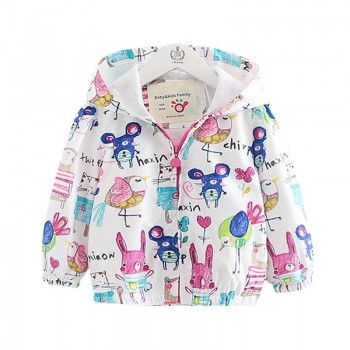 Little Birdy Zip-Up Hooded Jacket for Baby & Girls