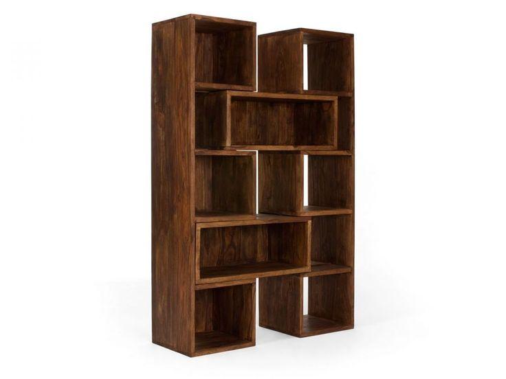 Bücherregal ausziehbar Raumteiler Regal massiv Holz Palisander Möbel Neu CUBE | eBay