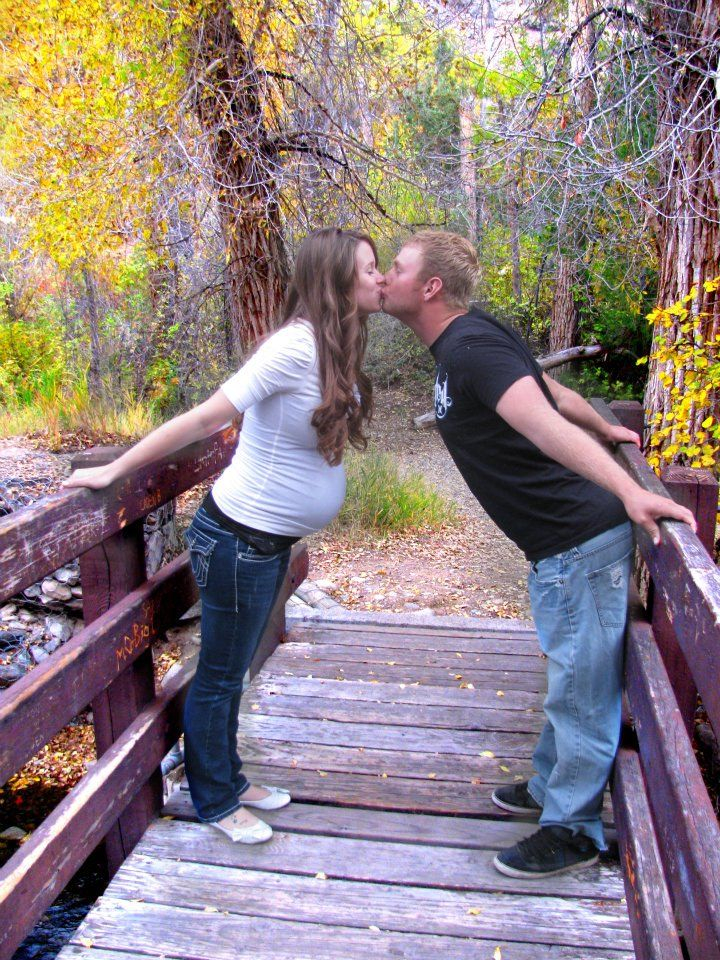 Fall Maternity Pictures - Couple on a Bridge - Photo Idea | Two Million Miles